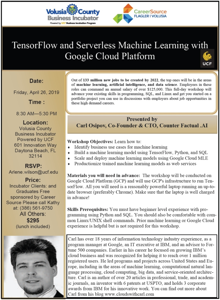 TensorFlow and Serverless Machine Learning with Google Cloud Platform